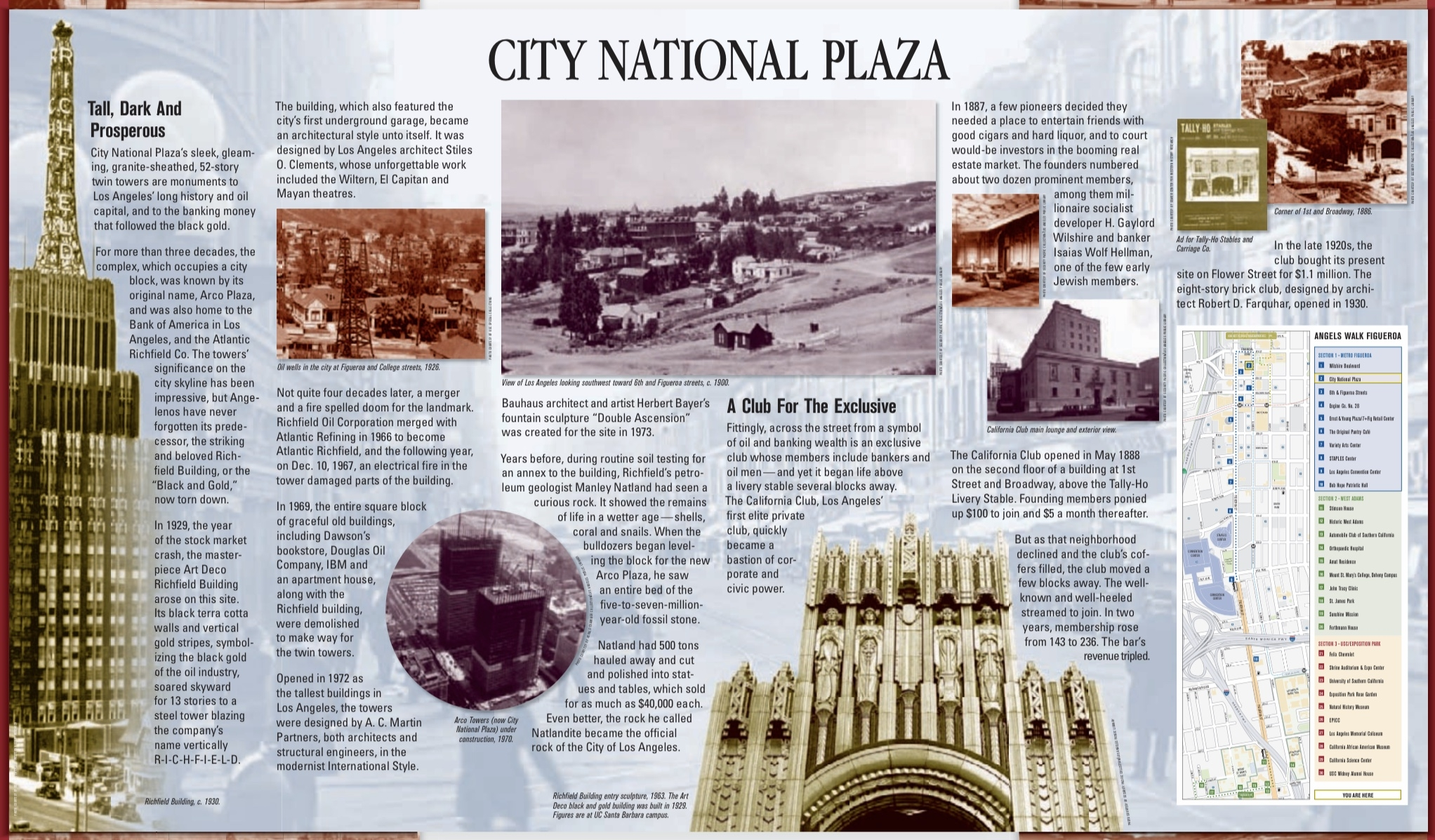 City National Plaza Marker