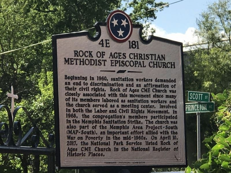 Rock of Ages Christian Methodist Episcopal Church Marker image. Click for full size.