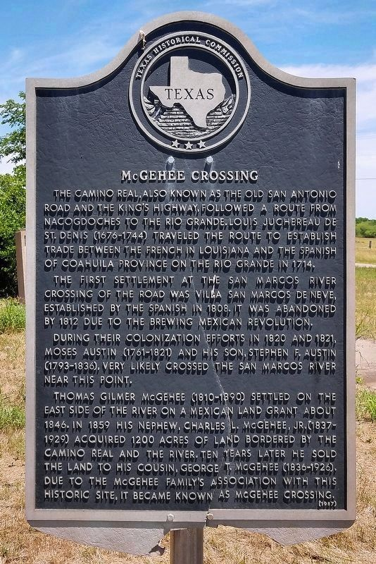 McGehee Crossing Marker image. Click for full size.