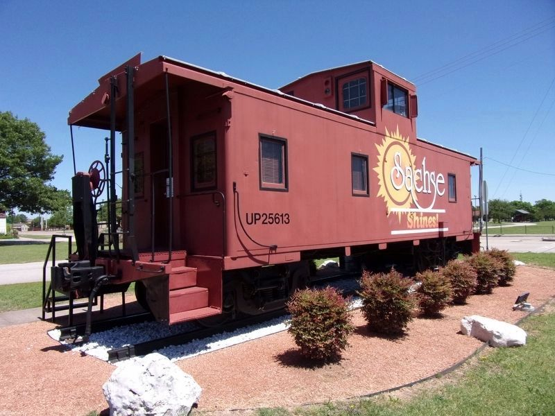 The Sachse Caboose image. Click for full size.