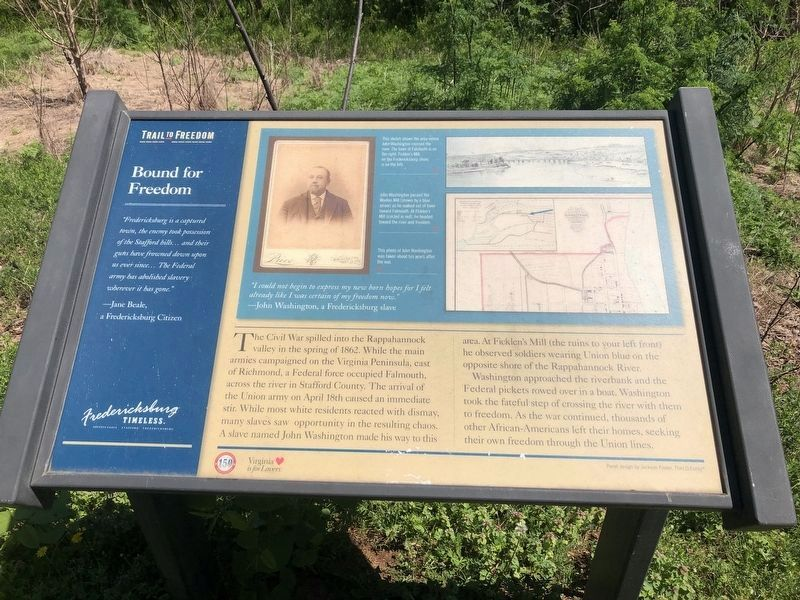 Bound for Freedom Marker image. Click for full size.