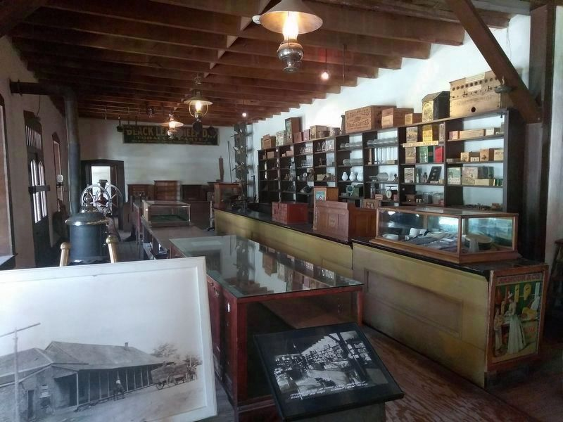 An interior view of the John Tunstall Store in Lincoln, New Mexico image. Click for full size.
