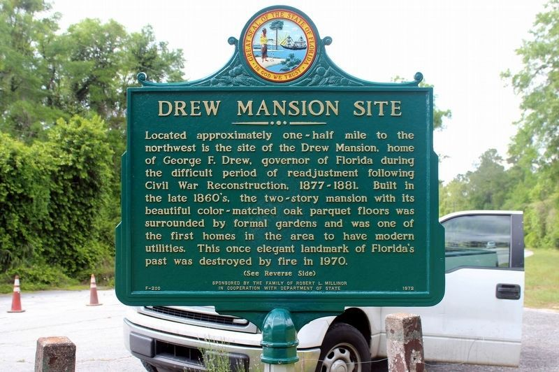 Drew Mansion Site / The Town of Ellaville Marker image. Click for full size.