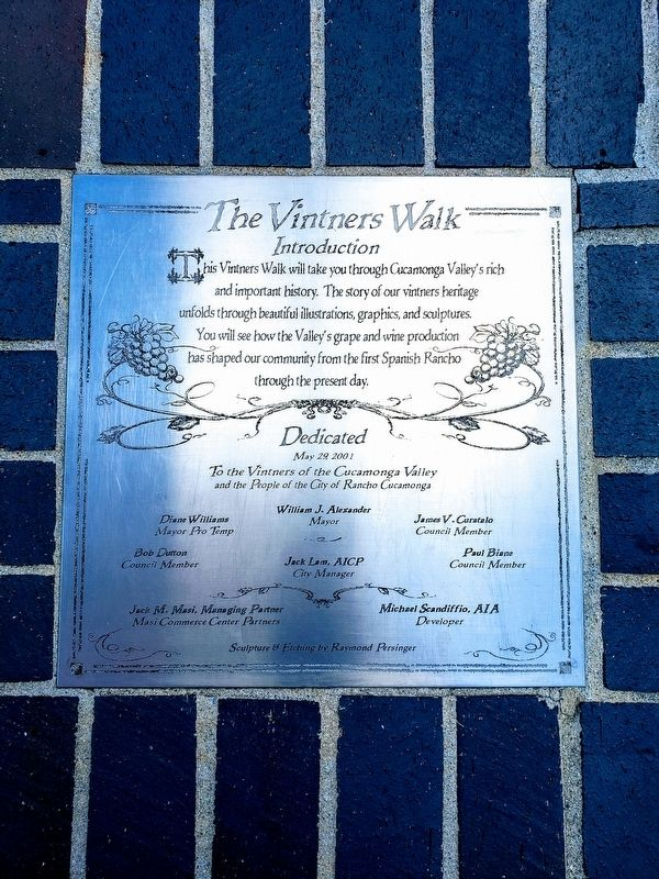 The Vintners Walk Marker image. Click for full size.