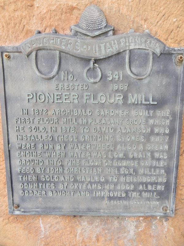 Pioneer Flour Mill Marker image. Click for full size.