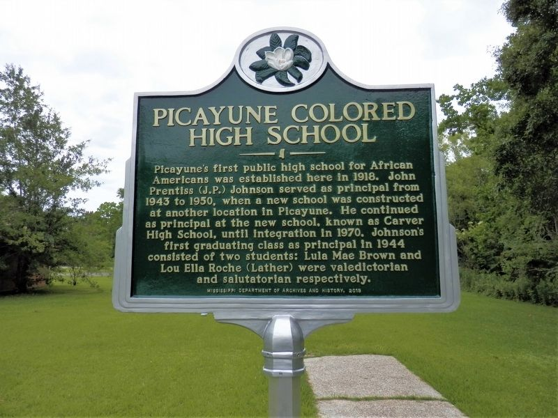 Picayune Colored High School Marker image. Click for full size.