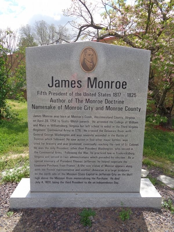 James Monroe Marker image. Click for full size.