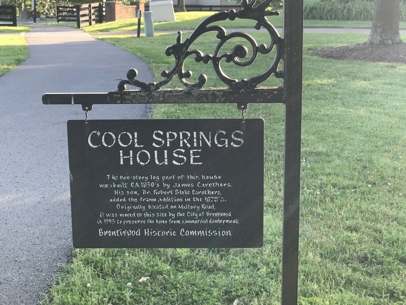 Cool Springs House Marker image. Click for full size.