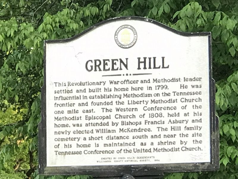 Green Hill Marker image. Click for full size.