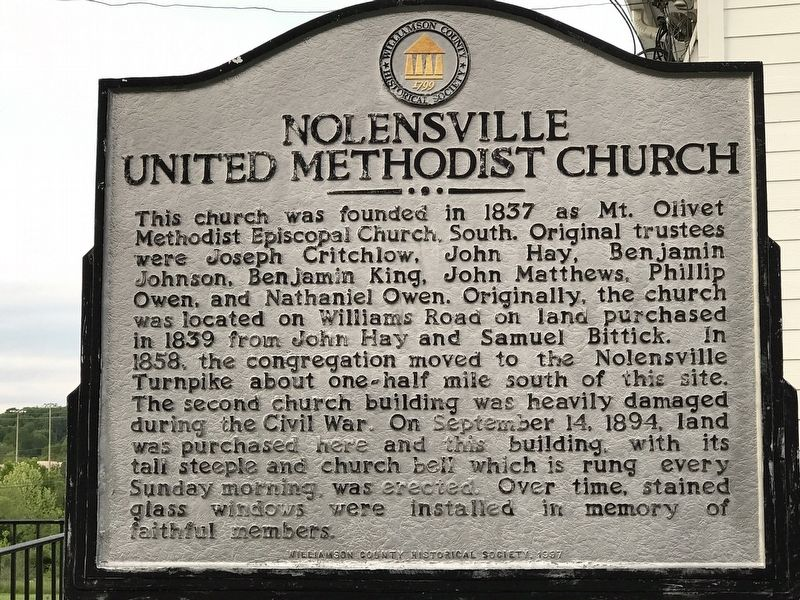 Nolensville United Methodist Church Marker image. Click for full size.