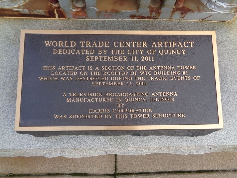 World Trade Center Artifact Marker image. Click for full size.