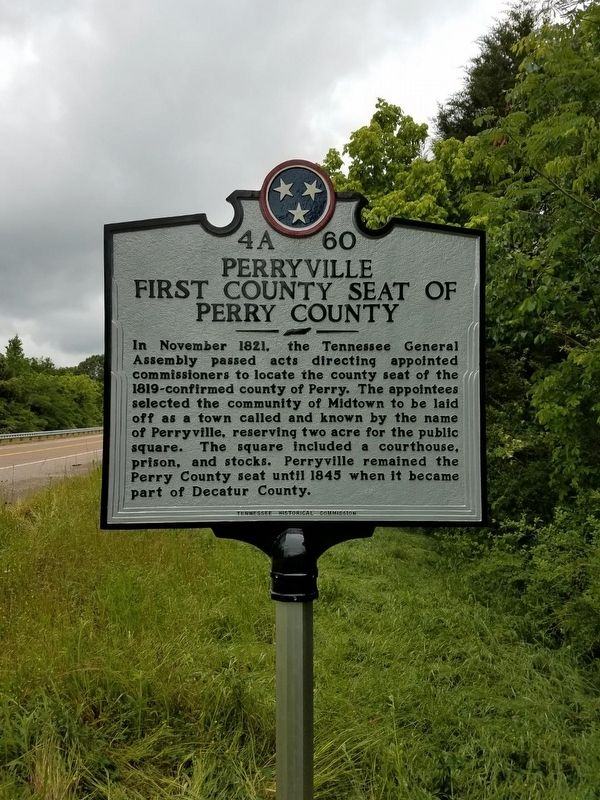 Perryville First County Seat of Perry County Marker image. Click for full size.