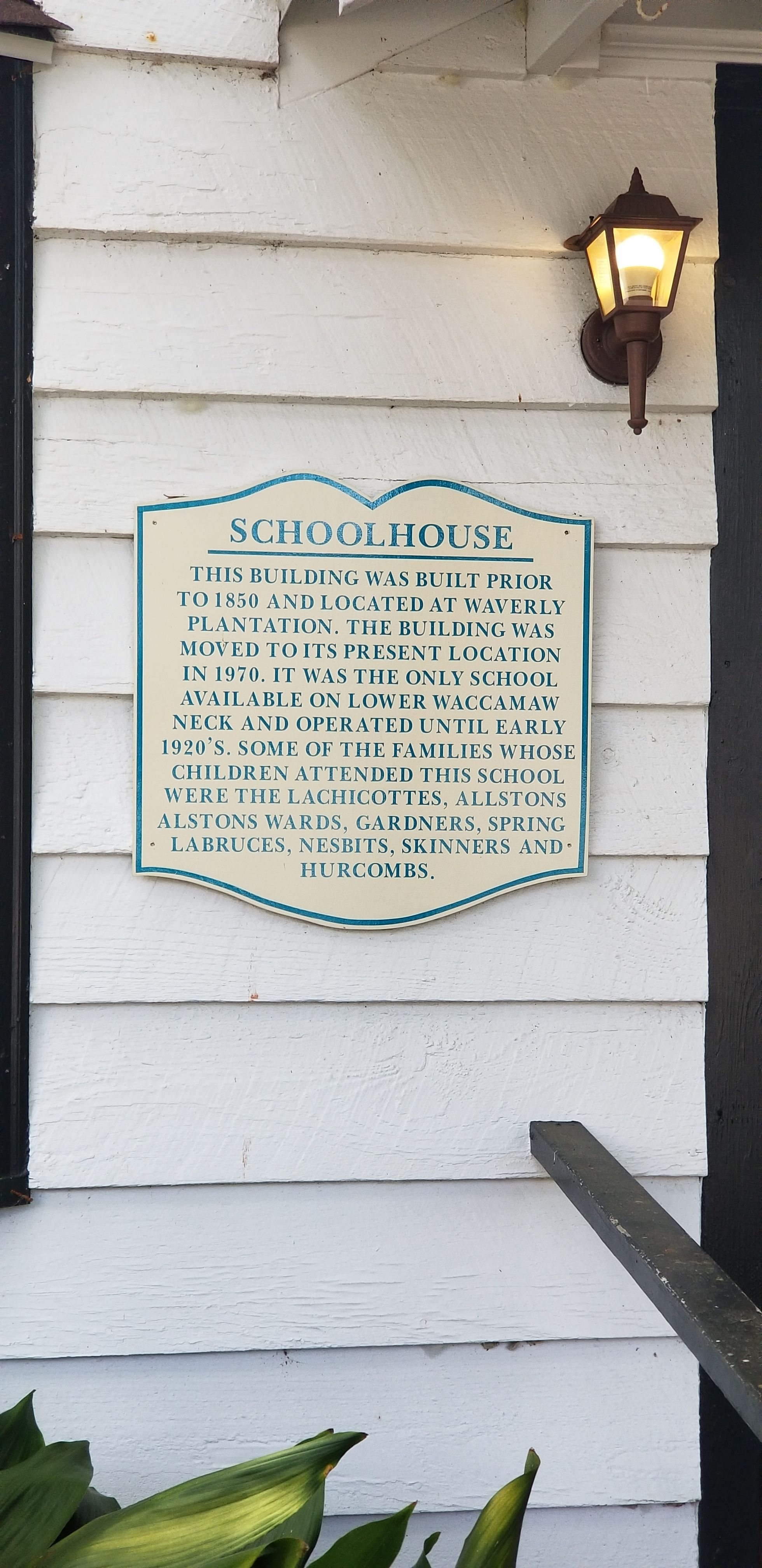 School House Marker