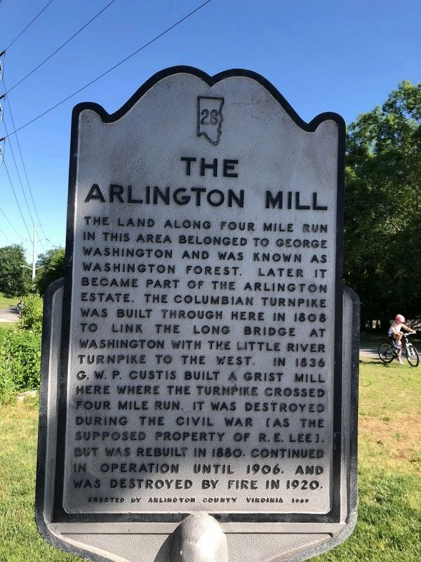 The Arlington Mill Marker image. Click for full size.