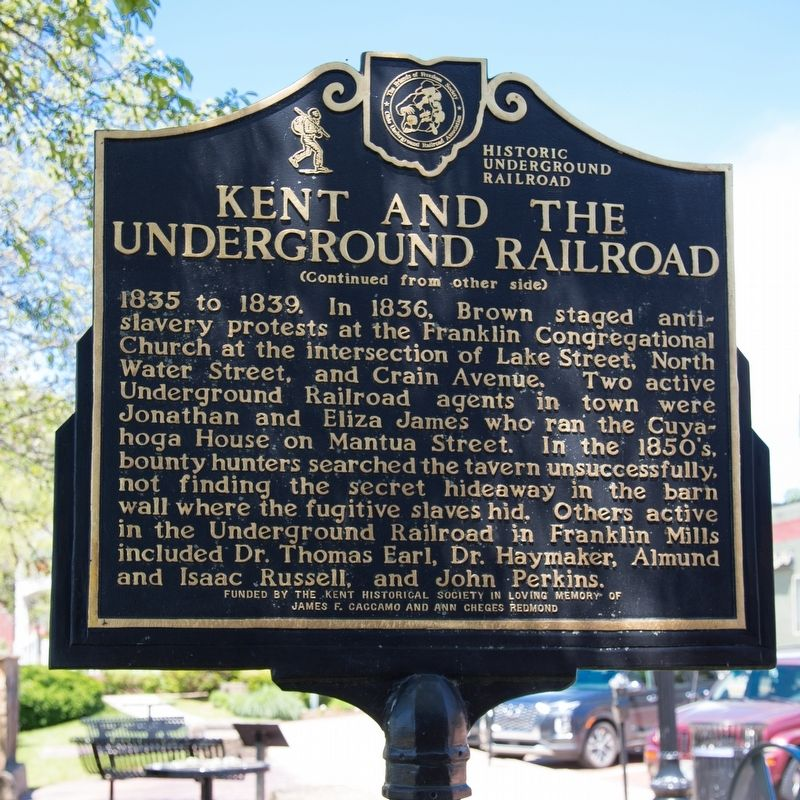 Kent and the Underground Railroad Marker, side two image. Click for full size.