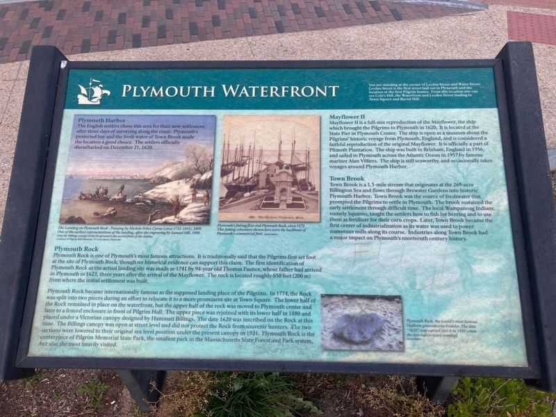 Plymouth Waterfront Marker image. Click for full size.