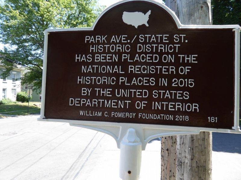 Park Ave./State St. Historic District Marker image. Click for full size.