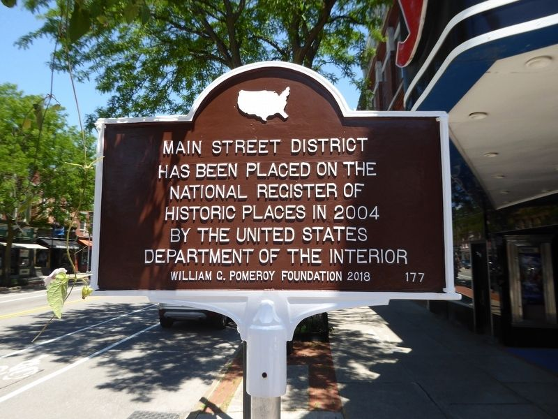 Main Street District Marker image. Click for full size.