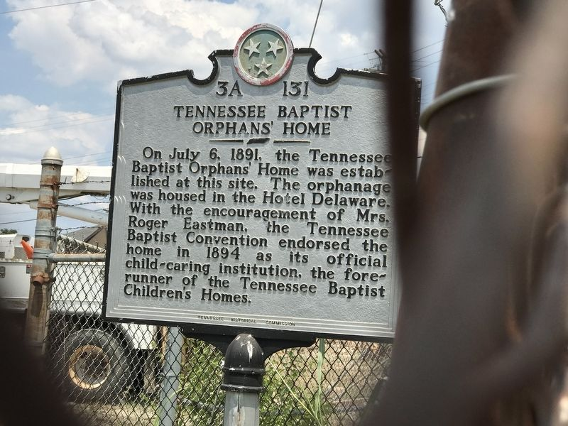 Tennessee Baptist Orphans' Home Marker image. Click for full size.