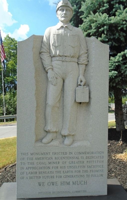 The Greater Pittston Coal Miner Marker image. Click for full size.