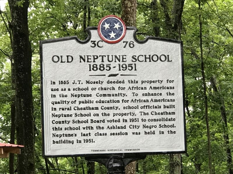 Old Neptune School Marker image. Click for full size.