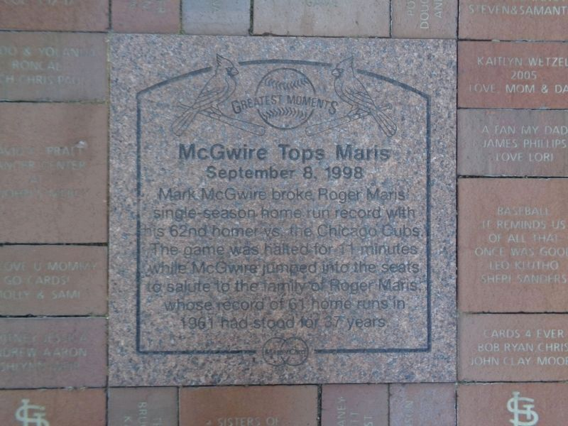 McGwire Tops Maris Marker image. Click for full size.