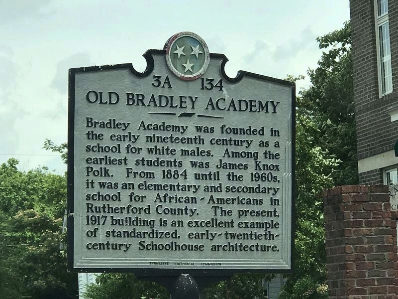 Old Bradley Academy Marker image. Click for full size.