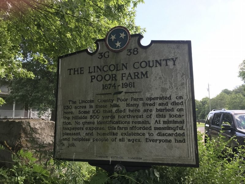 The Lincoln County Poor Farm Marker image. Click for full size.
