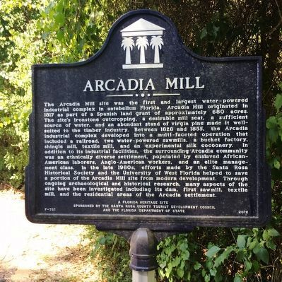 Arcadia Mill Marker image. Click for full size.