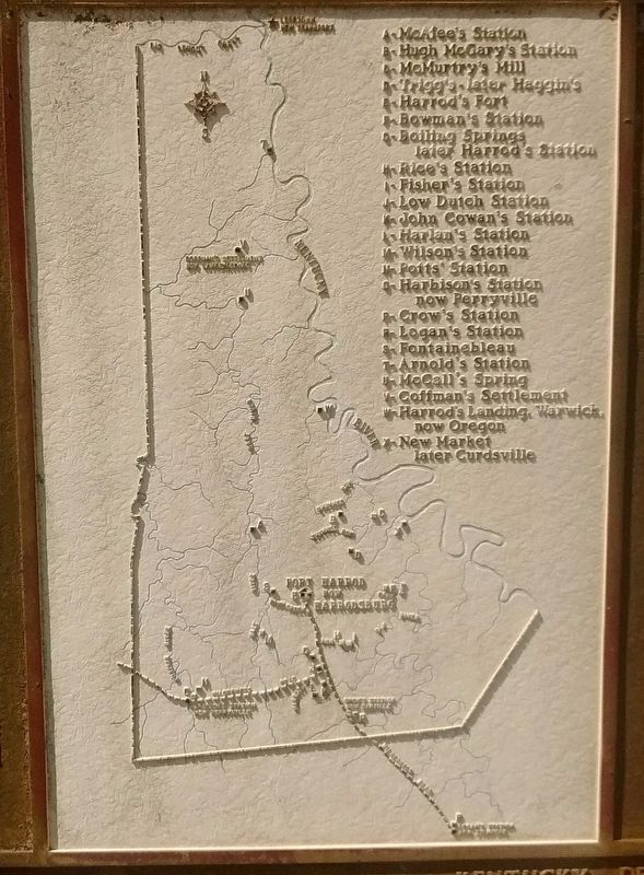 Mercer County Before Kentucky Became a State Marker image. Click for full size.