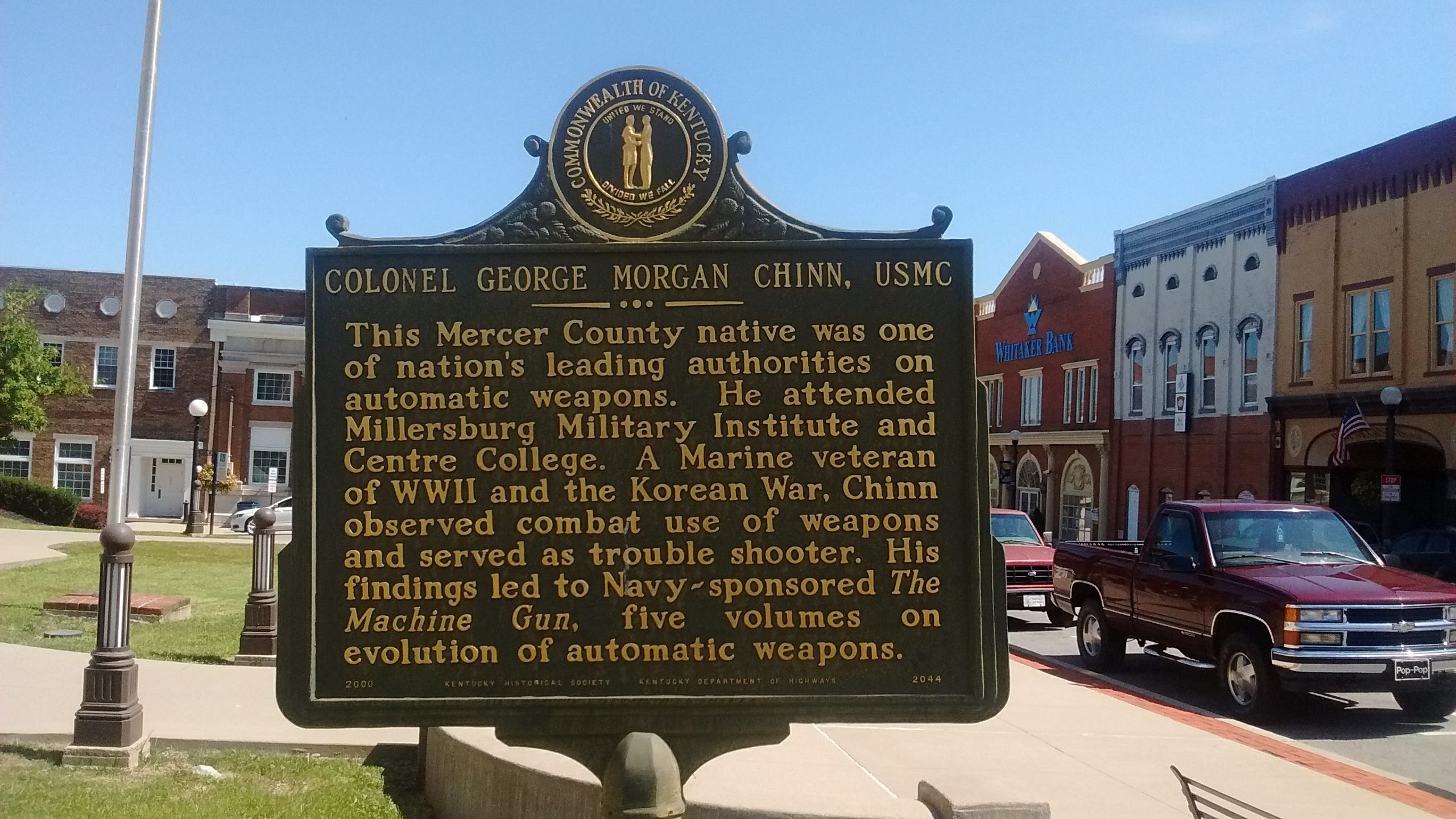 Colonel George Morgan Chinn, USMC / Weapons Expert Marker
