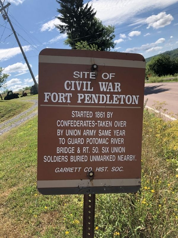 Site of Civil War Fort Pendleton Marker image. Click for full size.