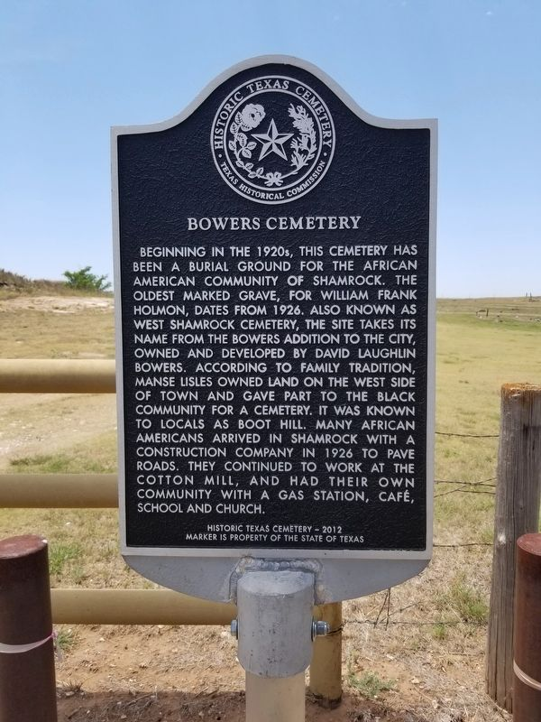 Bowers Cemetery Marker image. Click for full size.