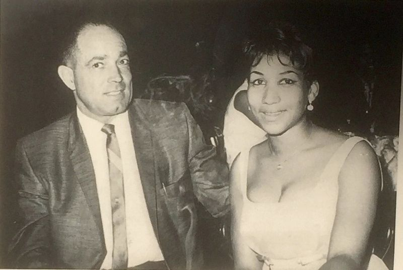 Marker inset photo: Melvin Reid and Aretha Franklin image. Click for full size.