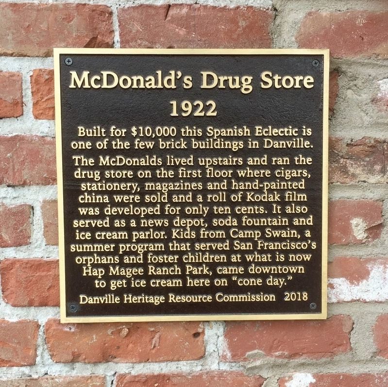 McDonald's Drug Store Marker image. Click for full size.