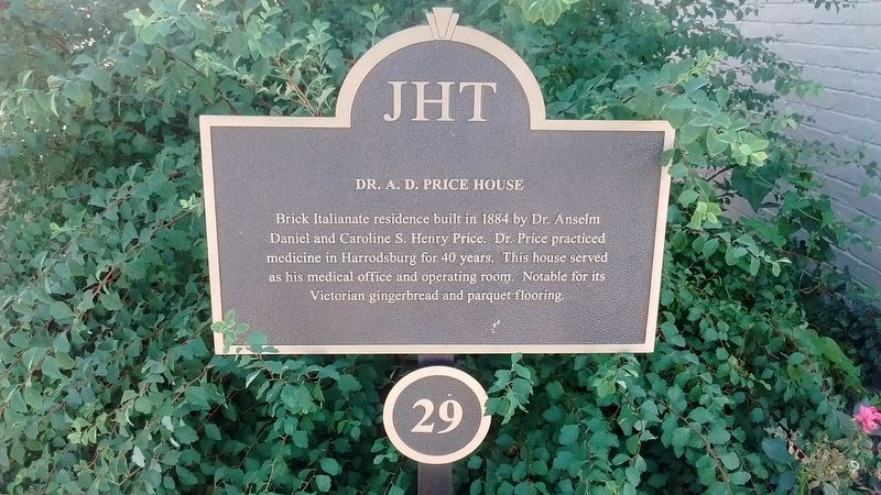 Dr. A. D. Price House Marker image. Click for full size.