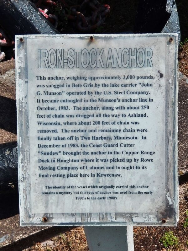 Iron-Stock Anchor Marker image. Click for full size.