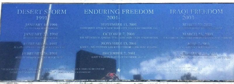Desert Storm/Enduring Freedom/Iraqi Freedom Memorial image. Click for full size.