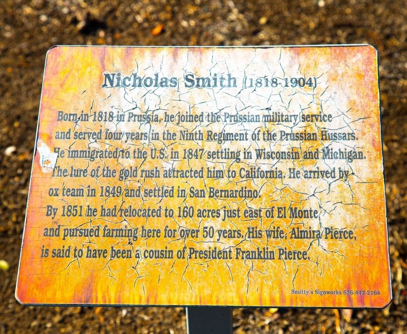 Nicholas Smith Marker image. Click for full size.