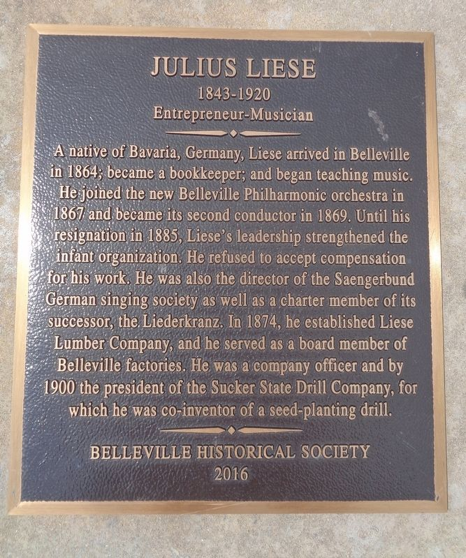 Julius Liese Marker image. Click for full size.