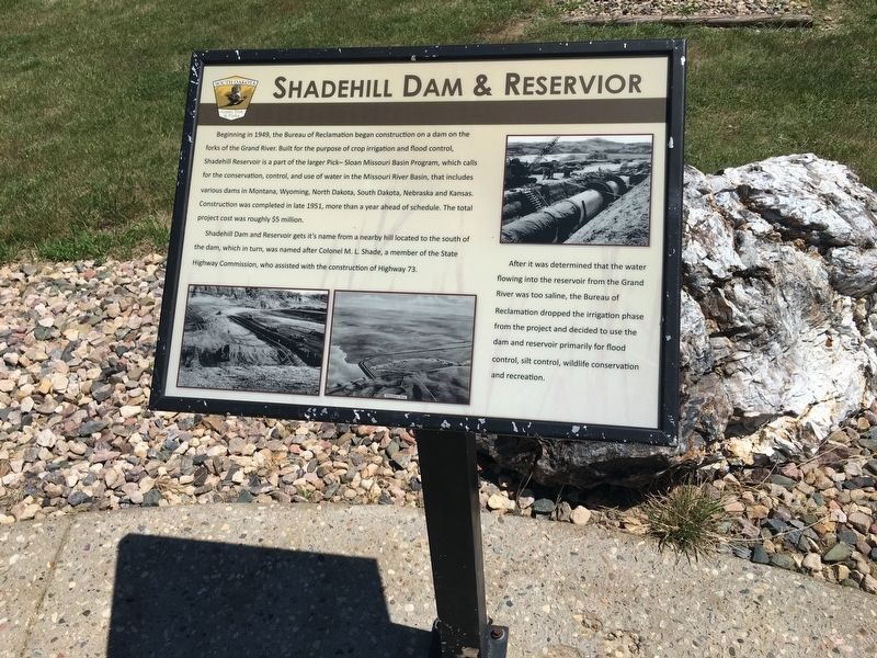 Shadehill dam & Reservoir Marker image. Click for full size.
