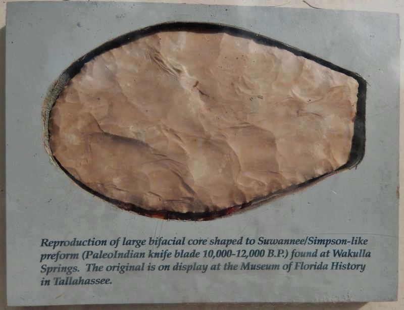 Marker detail: Paleoindian Knife Blade Reproduction image. Click for full size.