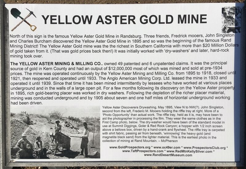 Yellow Aster Gold Mine Marker image. Click for full size.