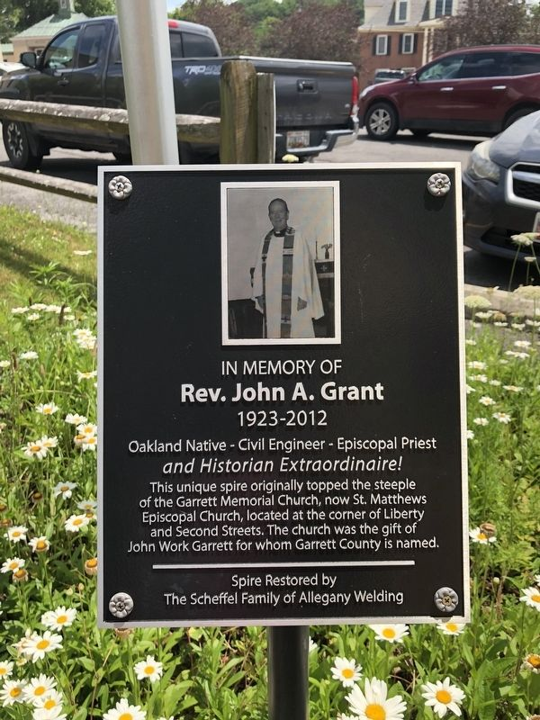 In Memory of Rev. John A. Grant Marker image. Click for full size.