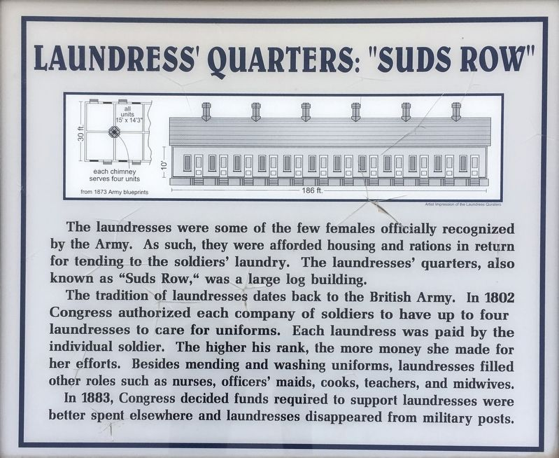 "Laundress' Quarter: ""Suds Row"" Marker image. Click for full size."