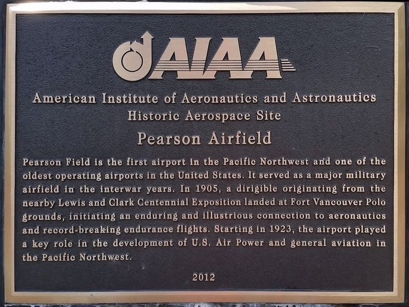 Pearson Airfield Marker image. Click for full size.