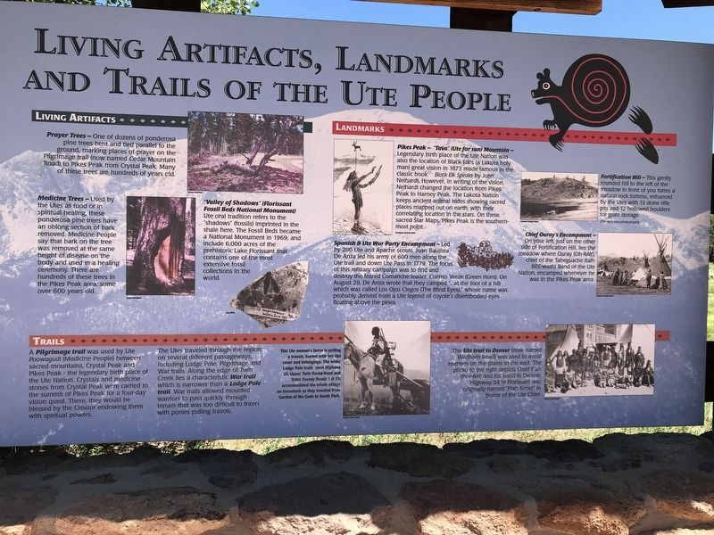 Living Artifacts, Landmarks and Trails of the Ute People Marker image. Click for full size.