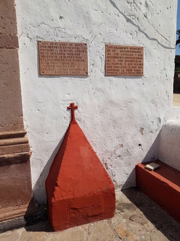 Nearby additional Parish of Arroyo Zarco tablets image. Click for full size.