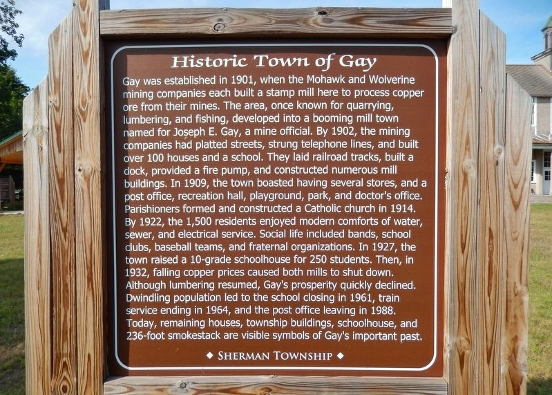 Historic Town of Gay Marker image. Click for full size.