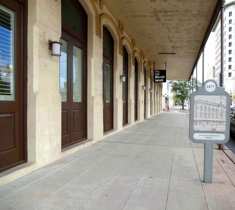 The sidewalk of the Heidenheimer-Hunter Building image. Click for full size.